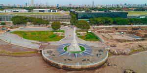 Monumento a Colón en el paseo Costanera Aeroparque
